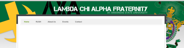 Lambda Chi Alpha Website - Arkansas State University